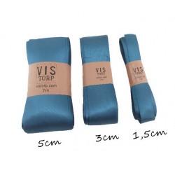 Satinband - Antikblå 1,5cmx7m